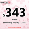 Pennsylvania player won $1 million, Powerball jackpot is $343 million now