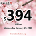 Powerball jackpot now is $394 million: Three new winners of $1 million
