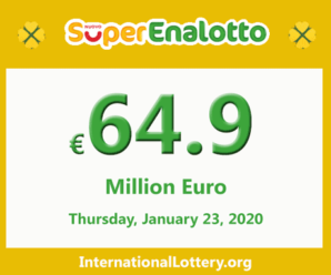 Jackpot SuperEnalotto is raising to 64.9 million Euro for the next drawing