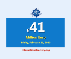 EuroMillions LotteryJackpot is €41 million euro now