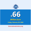 EuroMillions Lottery is the biggest jackpot in the world with €66 million euro