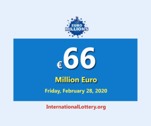 EuroMillions Lotteryis the biggest jackpot in the world with €66 million euro