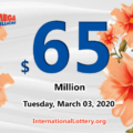 No Mega Millions winner; Tuesday jackpot stands at $65 million
