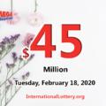 Mega Millions lottery results of February 14, 2020