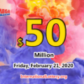 Mega Millions results for 2020/02/18: Jackpot stands at $50 million