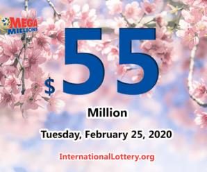 No Mega Millions winner; Tuesday jackpot stands at $55 million