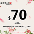 Result of Powerball on February 08, 2020: Jackpot is $70 million now