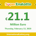 Jackpot SuperEnalotto is becoming hotter with 21.1 million Euro