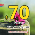 Mega Millions results of March 03, 2020, Jackpot is at $70 million