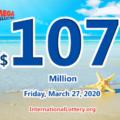 Three new millionaires; Mega Millions jackpot jumps to $107 million