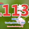 Mega Millions jackpot is waiting the owner, It is $113 million now