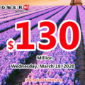 Powerball results for 2020/03/14: One Connecticut player won $1 million