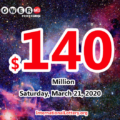 Who will win the next $140 million Powerball jackpot on March 21, 2020?