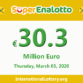 Jackpot SuperEnalotto is becoming hotter with 30.3 million Euro