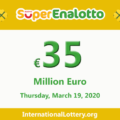 Results of SuperEnalotto lottery on March 17, 2020; Jackpot raises to 35 million Euro