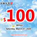 Powerball results of March 04, 2020: Jackpot raises to $100 million