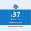 The results of EuroMillions Lottery on March 31, 2020; Now, Jackpot is €37 million euro