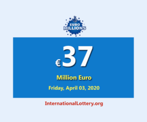 The results of EuroMillions Lottery on March 31, 2020; Now, Jackpotis €37 million euro