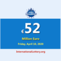 The results of EuroMillions Lottery on April 07, 2020; Now, jackpotis €52 million euro