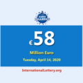 EuroMillions Lottery is €58 million Euro for the next drawing