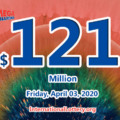 Mega Millions jackpot is waiting the owner, It is $121 million now