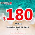 Powerball result of March 01, 2020; $180 million is the biggest jackpot in the world now