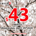 Powerball results for 2020/04/25: Jackpot is $43 million