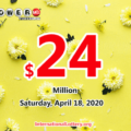 A second prize belonged to a California player; Powerball rolls to $24 million