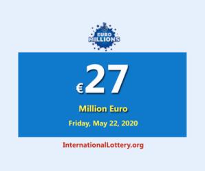 EuroMillions Lotteryraises to 27 million Euro