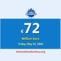 A player won the second prize; EuroMillions Lottery Jackpot is €72 million