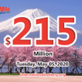 The results of Mega Million on May 01, 2020; Jackpot is $215 million
