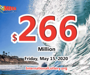 Mega Millions jackpot is waiting the owner, It is $266 million now