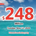 Mega Millions results for 2020/05/08: Jackpot stands at $248 million