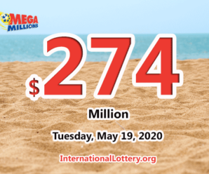 The results of Mega Million on May 15, 2020; Jackpot is $274 million