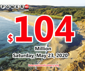 Powerball results for 2020/05/20; Jackpot is up to $104 million