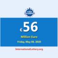 EuroMillions LotteryJackpot is €56 million euro now