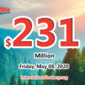 4 players won the second prizes with Mega Millions; Jackpot raises to $231 million
