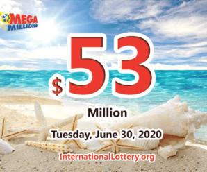 A winner got $2 million; Mega Millions jackpot raises to $53 million