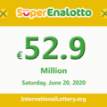 Results of SuperEnalotto lottery on June 18, 2020; Jackpot is 52.9 million Euro