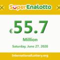 Results of SuperEnalotto lottery on June 25, 2020; Jackpot raises to 55.7 million Euro