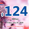 Mega Millions results for 2020/07/21: Jackpot stands at $124 million
