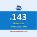 Euro Millions Lotteryis the biggest jackpot in the world with €143 million euro