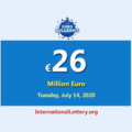 Nine players won the second prizes of Euro Millions Lottery; Jackpot is €26 million Euro