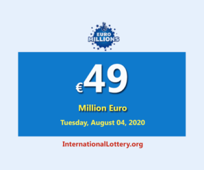 EuroMillions Lottery Jackpot is €49 million euro for August 04, 2020