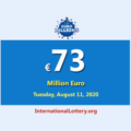 EuroMillions Lottery raises to 73 million Euro for Tuesday, August 11, 2020
