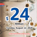 The results of Mega Million on August 07, 2020; Jackpot is $24 million