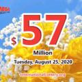 Two second prizes; Mega Millions jackpot jumps to $57 million