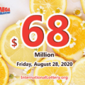Mega Millions jackpot is waiting the owner, It is $68 million now