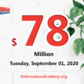 Mega Millions rewared a $3 millions prize; Jackpot raises to $78 million