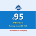 Euro Millions Lotteryis the biggest jackpot in the world with €95 million Euro